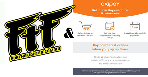 For The Fighter Oxipay Landing Page