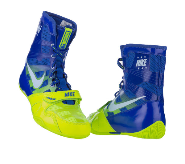 Nike HyperKO Boxing Boots | Blue / Green - For The Fighter - Boxing BJJ MMA Muay Thai Equipment Store