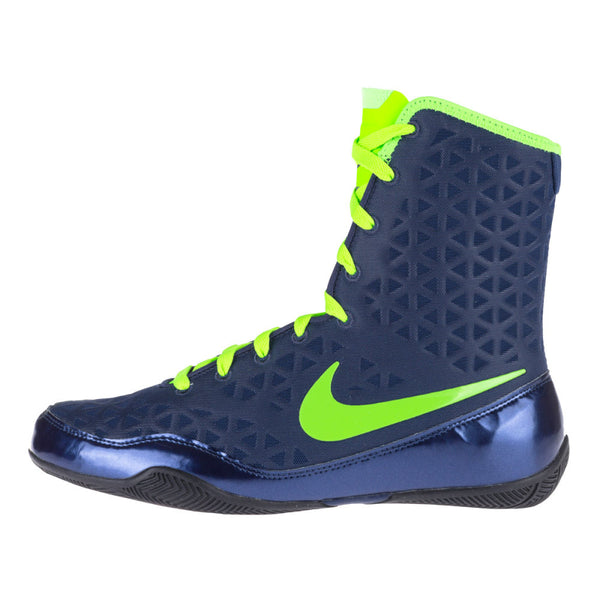 Nike KO Boxing Boots | Blue - For The Fighter - Boxing BJJ MMA Muay Thai Equipment Store