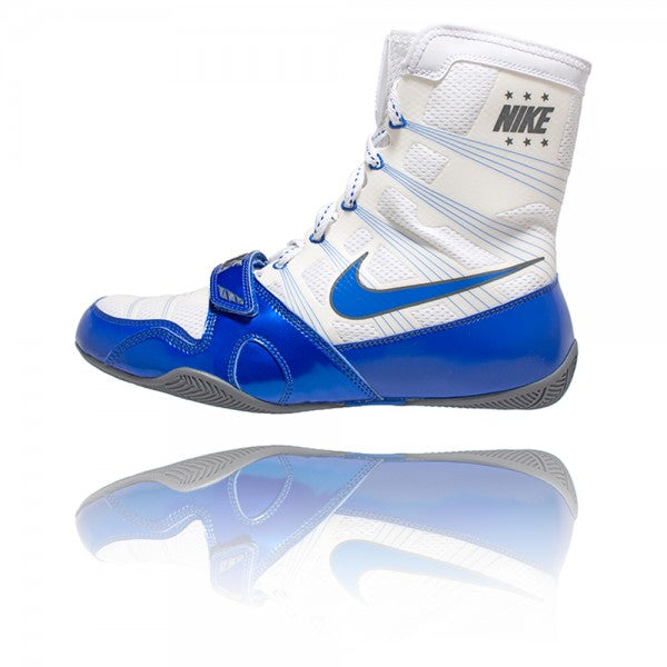 Nike HyperKO Boxing Boots | White / Blue - For The Fighter - Boxing BJJ MMA Muay Thai Equipment Store
