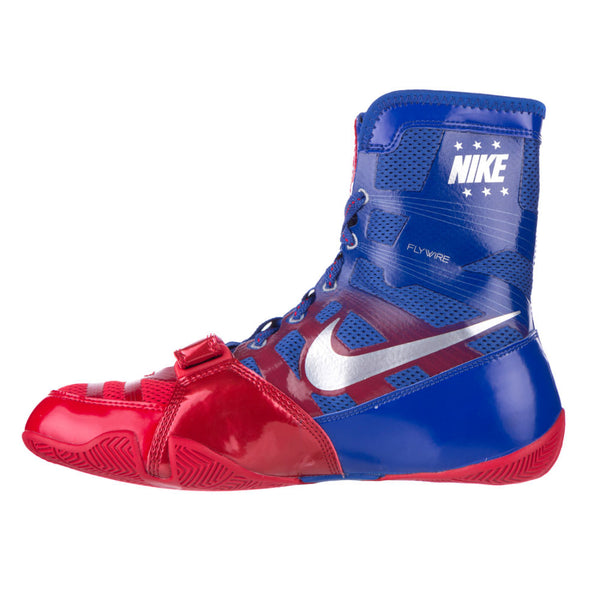 Nike HyperKO Boxing Boots | Blue / Red - For The Fighter - Boxing BJJ MMA Muay Thai Equipment Store
