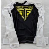 White MMA / BJJ Rashguards - For The Fighter - Boxing BJJ MMA Muay Thai Equipment Store