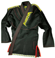 FTF Brazilian Jiu Jitsu BJJ Gi - Kids Black - For The Fighter - Boxing BJJ MMA Muay Thai Equipment Store
