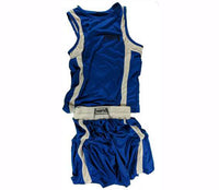 Blue Amateur Boxing Outfits - For The Fighter - Boxing BJJ MMA Muay Thai Equipment Store