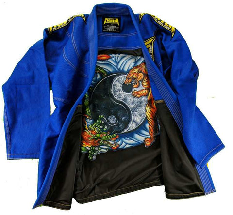 FTF Brazilian Jiu Jitsu BJJ Gi - Adults Blue - For The Fighter - Boxing BJJ MMA Muay Thai Equipment Store