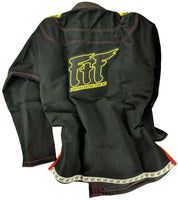 FTF Brazilian Jiu Jitsu BJJ Gi - Adults Black - For The Fighter
