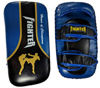 FTF Muay Thai and MMA Thai Pads - Blue - For The Fighter - Boxing BJJ MMA Muay Thai Equipment Store