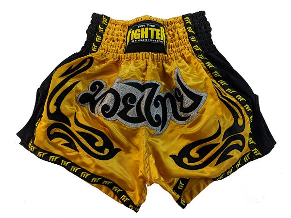 Muay Thai Shorts (Gold) - For The Fighter