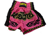 Muay Thai Shorts (Pink) - For The Fighter - Boxing BJJ MMA Muay Thai Equipment Store