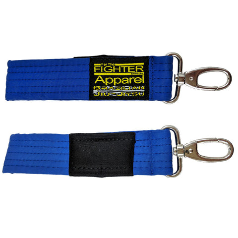 BJJ Gi Belt Keychain (Blue) - For The Fighter - Boxing BJJ MMA Muay Thai Equipment Store