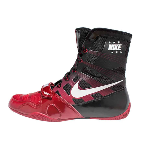 Nike HyperKO Boxing Boots | Black / Red - For The Fighter - Boxing BJJ MMA Muay Thai Equipment Store