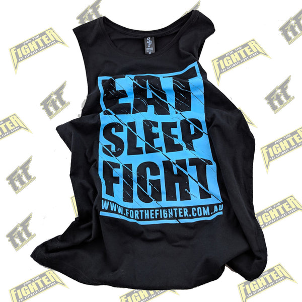 For The Fighter Singlet - Eat Sleep Fight - For The Fighter - Boxing BJJ MMA Muay Thai Equipment Store