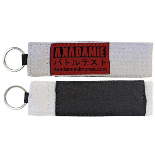 AKADAMiE BJJ Keyring (White) - For The Fighter - Boxing BJJ MMA Muay Thai Equipment Store