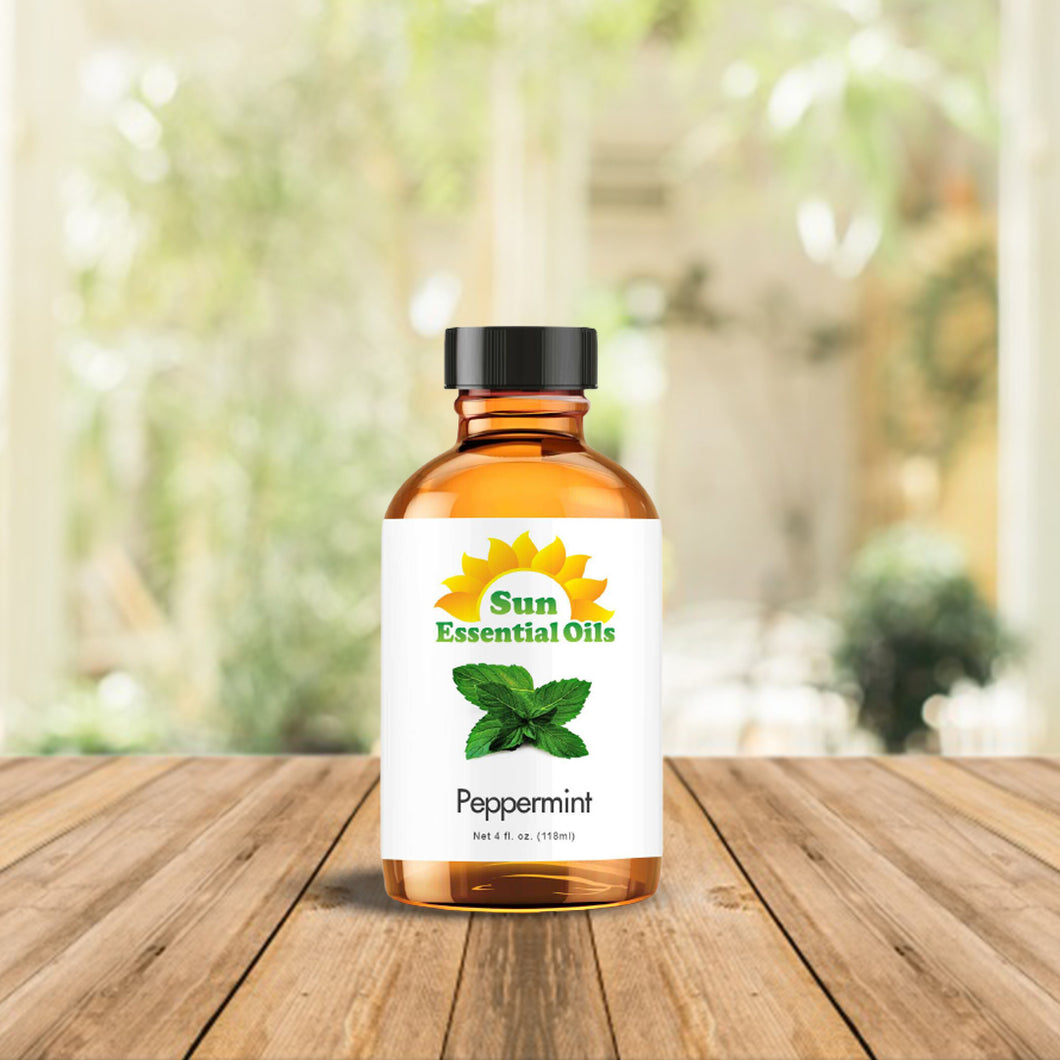Best Peppermint Essential Oil 100% Purely Natural Therapeutic Grade 4oz