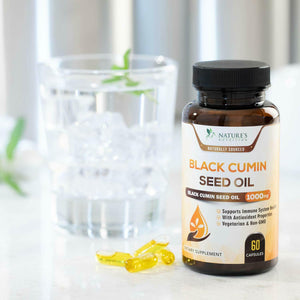 Black Seed Oil Capsules Highest Potency Black Cumin 1000mg - 60 softgels