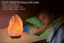 Load image into Gallery viewer, Natural Himalayan Salt Lamp Air Purifier 2lbs