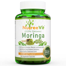 Load image into Gallery viewer, Pure Organic Moringa Vegetable Capsules