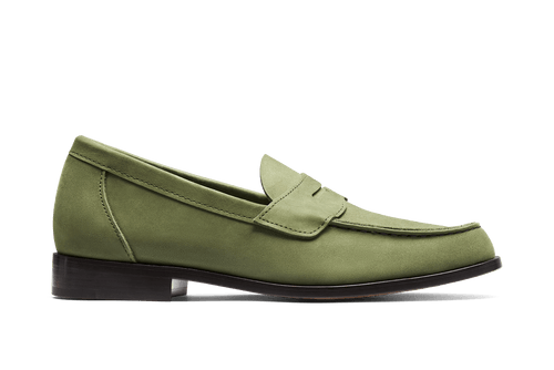 Aurlands Buxton Nubuck Forrest - The Original Penny Loafer