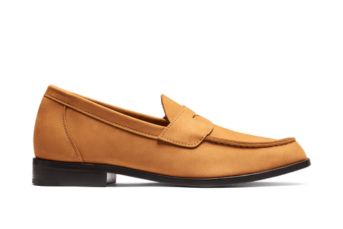 Aurlands Buxton Nubuck Ochre - The Original Penny Loafer