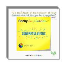 "Load image into Gallery viewer, Sticky-inspirations ""Congratulations"" Inspirational Sticky Notes"