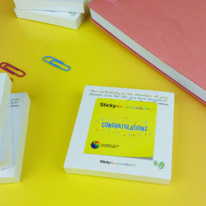 "Sticky-inspirations ""Congratulations"" Inspirational Sticky Notes"