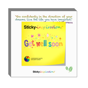 "Sticky-inspirations ""Get Well Soon"" Inspirational Sticky Notes"