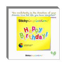 "Load image into Gallery viewer, Sticky-inspirations ""Happy Birthday"" Inspirational Sticky Notes"