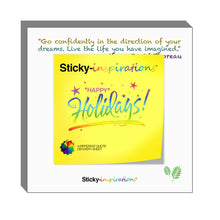 "Load image into Gallery viewer, Sticky-inspirations ""Happy Holidays"" Inspirational Sticky Notes"