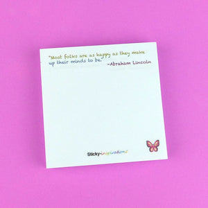 "Sticky-inspirations ""Happy Birthday"" Inspirational Sticky Notes"