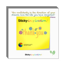 "Load image into Gallery viewer, Sticky-inspirations ""Thank You"" Inspirational Sticky Notes"