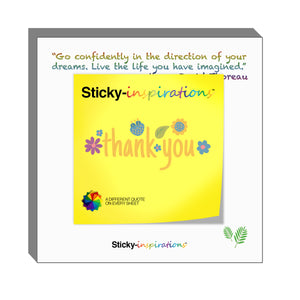 "Sticky-inspirations ""Thank You"" Inspirational Sticky Notes"