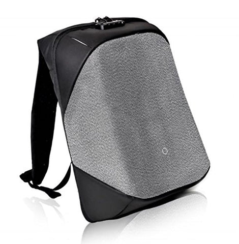 Korin Design ClickPack Pro - Anti-theft BackPack Laptop Bag with USB charging port large capacity waterproof TSA travel friendly Black and Grey - PeakCrusher