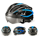 CoolChange S9 - Light Bike Helmet w/ Lenses - PeakCrusher