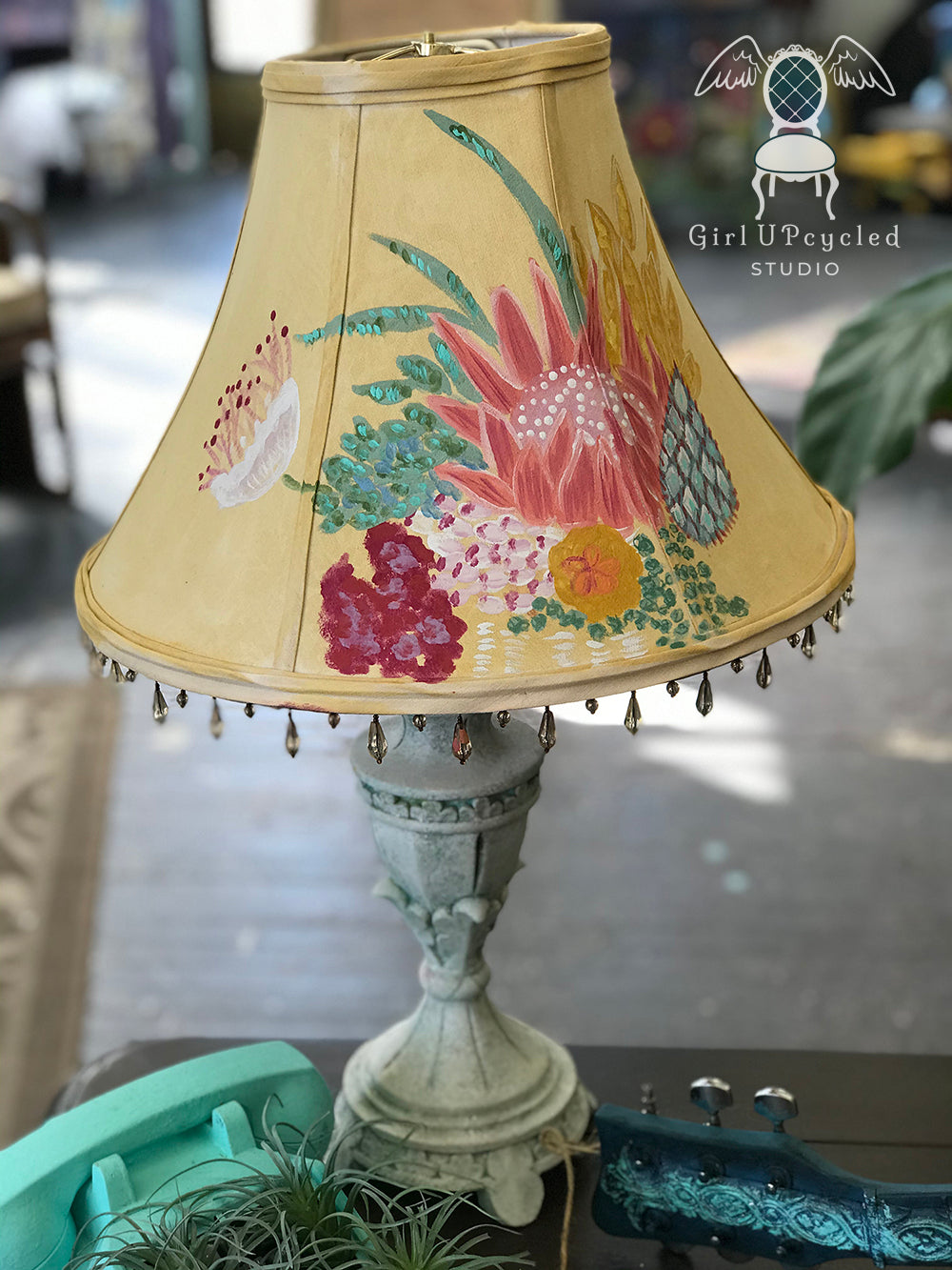 Create a Custom DIY Lampshade Using Paint to Get the Look of Anthropologie