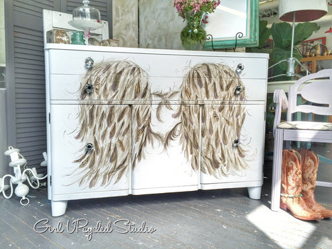Angel Wings Buffet Diaper Station Girl UPcycled Studio