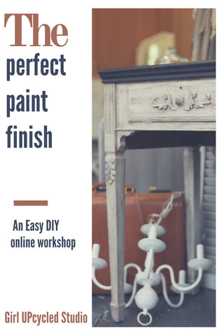 Perfect Paint Finish Tutorial Girl UPcycled