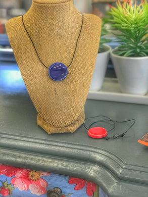 Floating Moon Ceramic Aromatherapy Necklaces