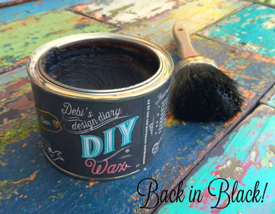 Black Wax diy paint