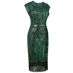 Green Gatsby Dress Downton Abbey Speakeasy Charleston 1920's Party