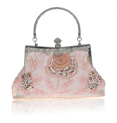 Antique Style Sequined handmade Womens Vintage Evening Purse