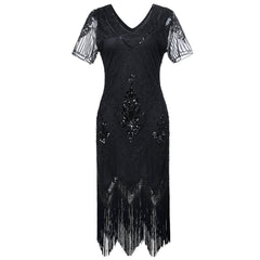 Great Gatsby Theme Party 1920s Flapper Dress Roaring Twenties
