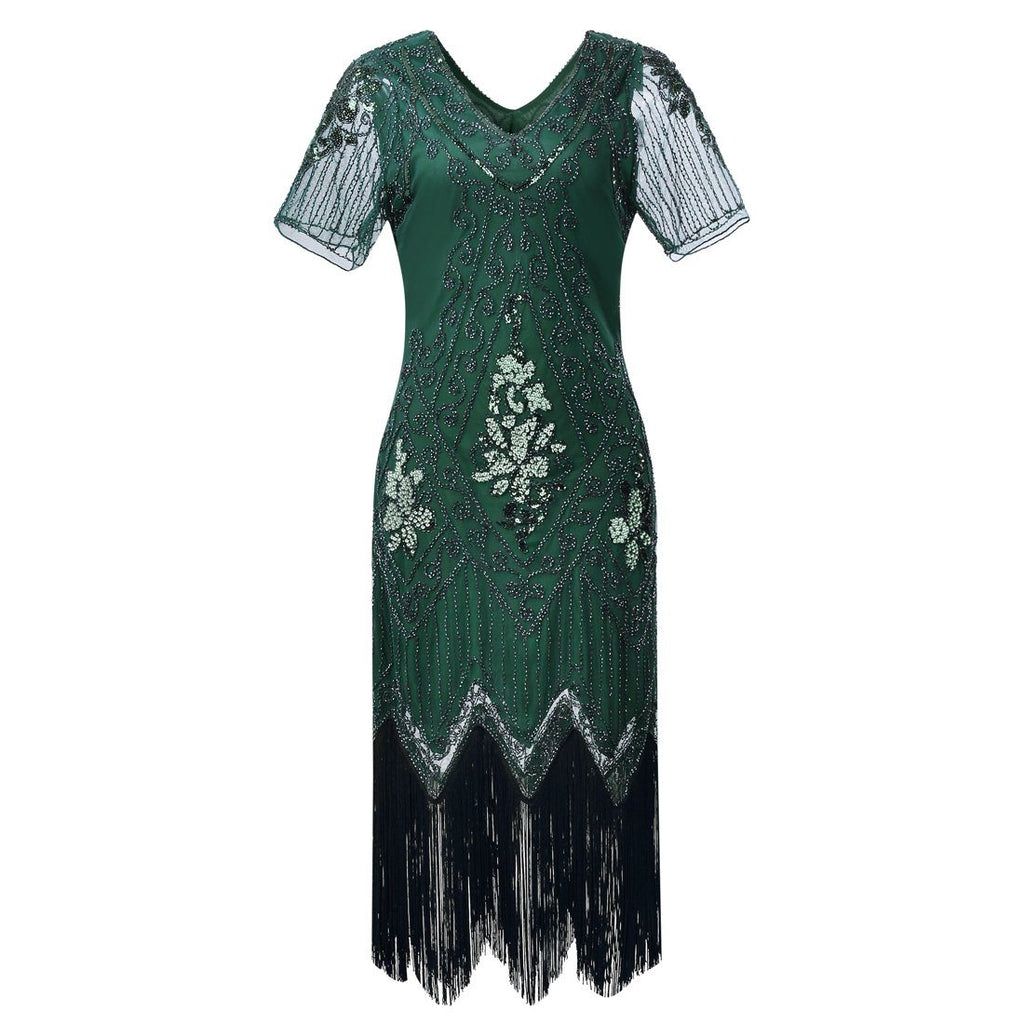 b08098e7117 1920s Inspired Dress Great Gatsby Flapper Dresses 20 s Themed Party ...