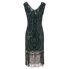 Green Great Gatsby Dresses 20's Themed Party Art Deco Charleston Wedding Guest|