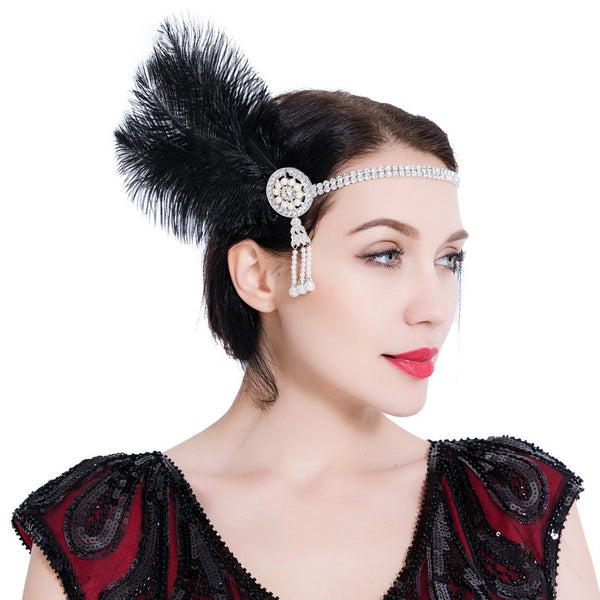 1920s Headband Great Gatsby Headpiece Flapper Fascinator