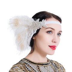 1920s Headband Great Gatsby Vintage Headpiece Accessories