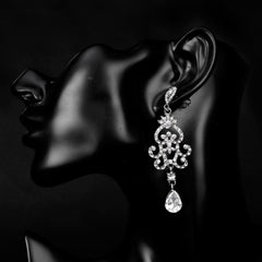 1920s Hollow Teardrop Dangle Earrings