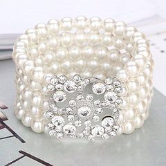 1920s Jewelry Vintage Pearl Bracelet Great Gatsby Flapper Girl Accessories
