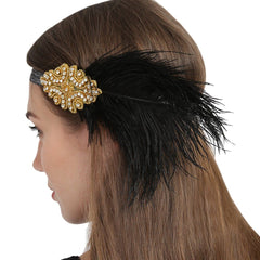 1920s Vintage Sequined Flapper Headband Gatsby Headpiece