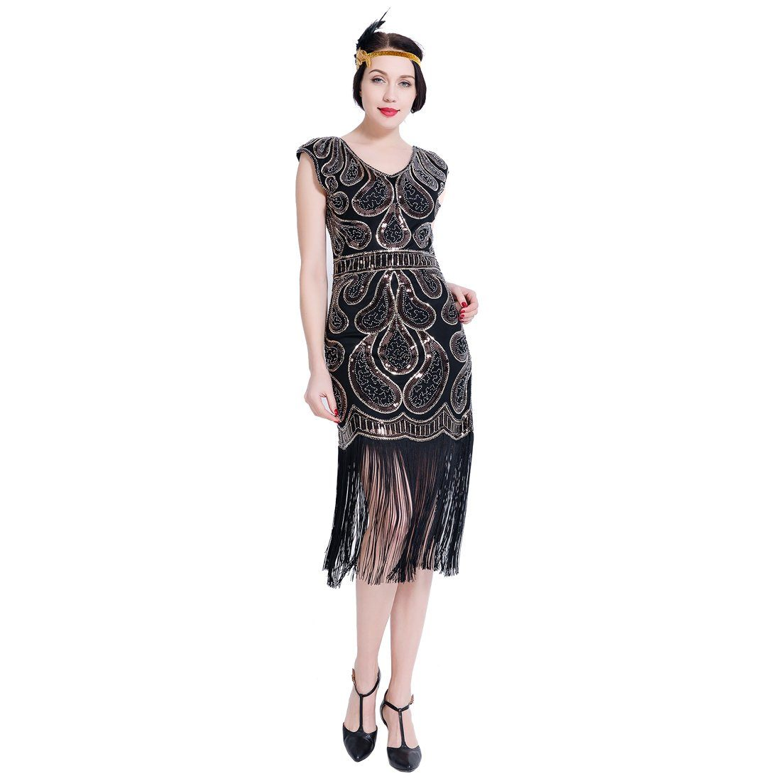 Sequined Flapper Dresses Downton Abbey Ehearsal Party 20s Vintage