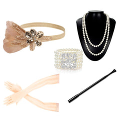 Flapper Girl Costume Accessories Set